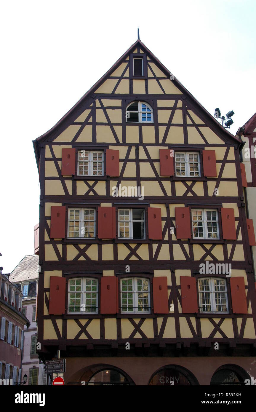half-timbered house in colmar Stock Photo