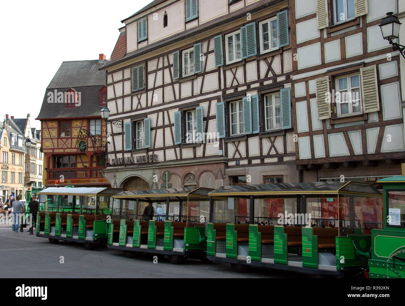 half-timbered houses in colmar / alsace Stock Photo