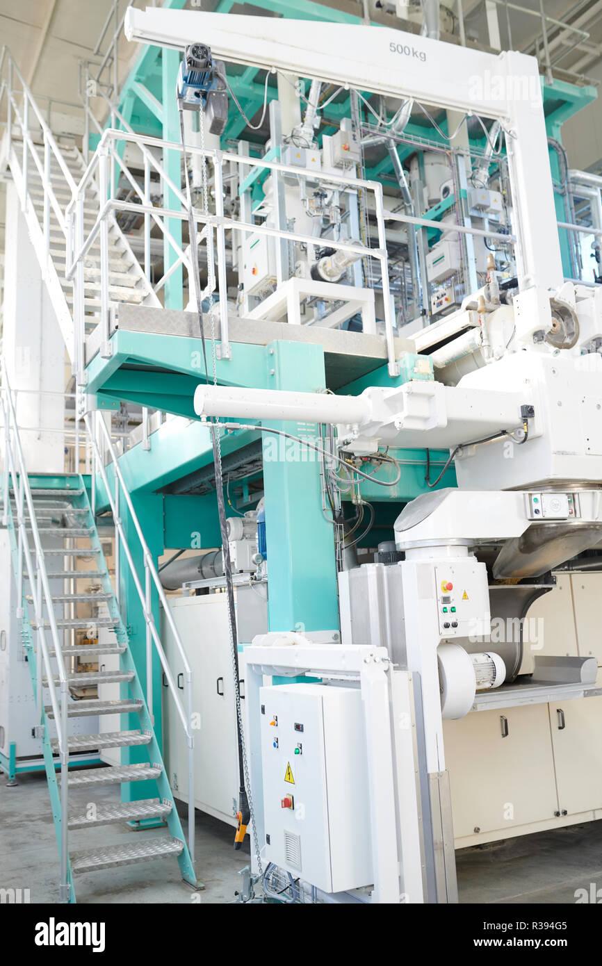 Machine  Units at Food Factory Stock Photo