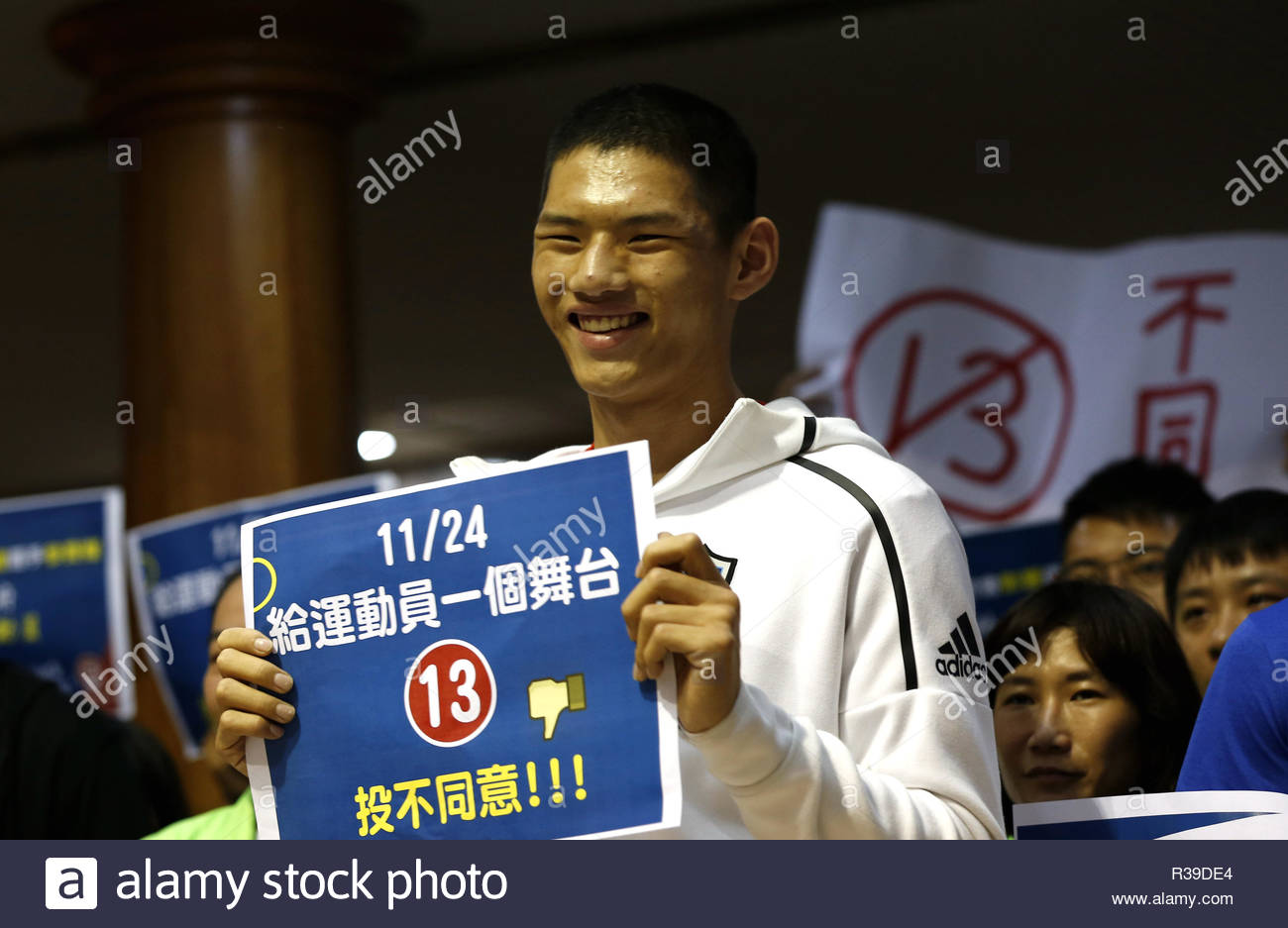 Top News Events Of 2020.Taipei 21st Nov 2018 The Athletes From Taiwan Protest The Rename