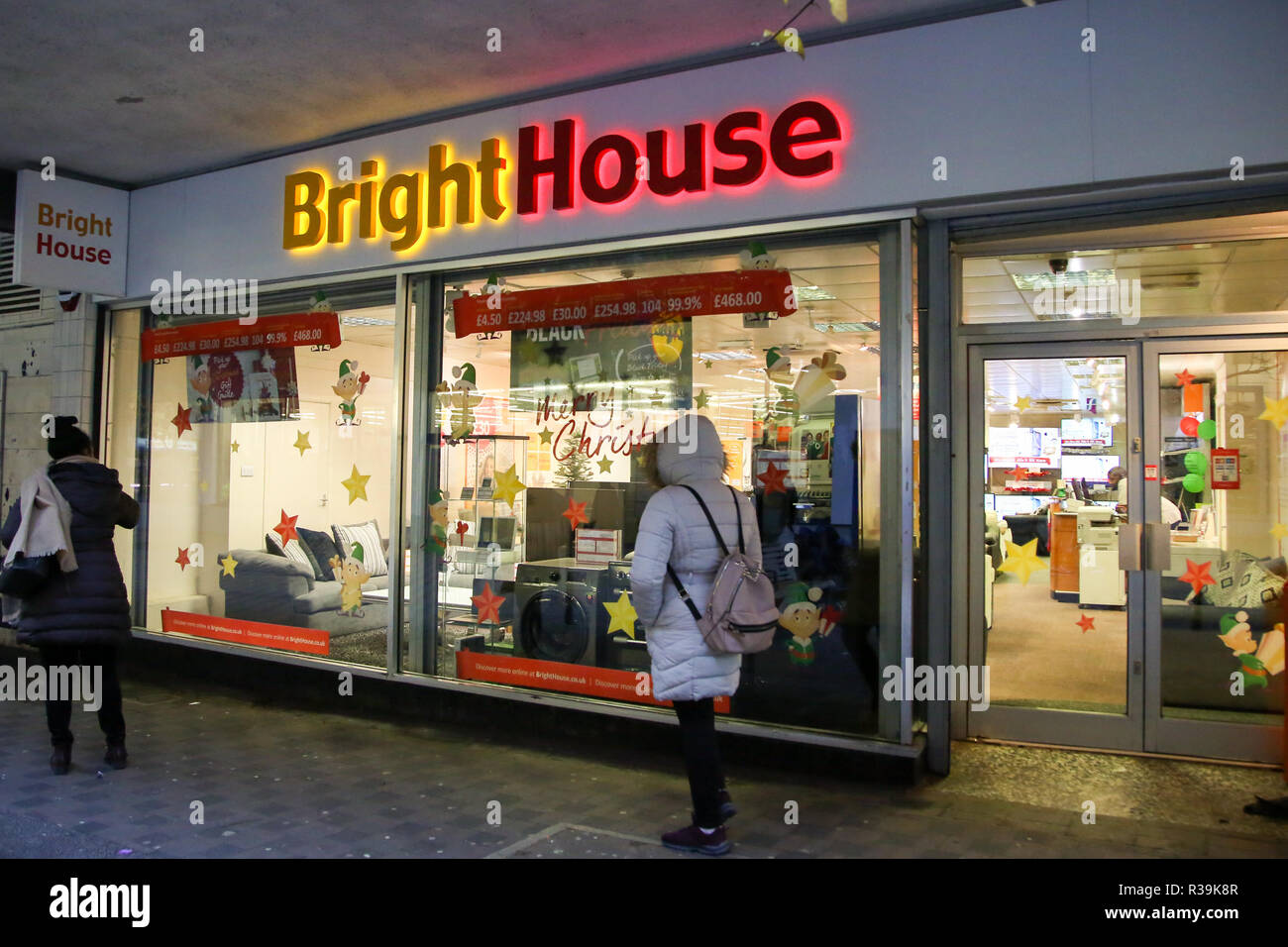 London, UK. 22nd Nov, 2018. New price cap on rent-to-own firms like Bright House that leave thousands in debt.The Financial Conduct Authority (FCA) has proposed to introduce a price cap on the rent-to-own (RTO) sector as part of efforts to protect some of Britain's most vulnerable households. The cap, subject to consultation, will come into force on 1 April 2019 and provide protection for customers, many of whom aren't earning enough to repay the contracts they're placed on. Credit: Dinendra Haria/SOPA Images/ZUMA Wire/Alamy Live News Stock Photo