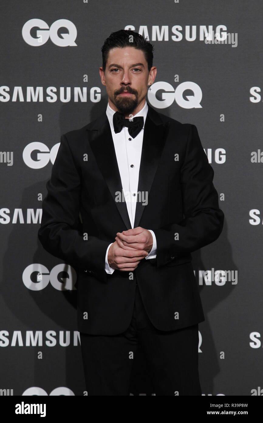 Photocall de los premios GQ Hombres del A–o 2018. (Photo: Jose Cuesta/261/Cordon Press). Adrian Lastra   Photocall of GQ Men of Year Award 2018 in Madrid on Thursday , 22 november 2018 - Stock Image