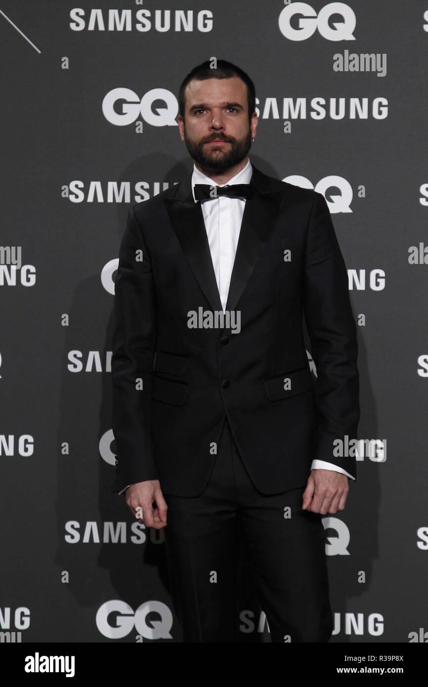 Photocall de los premios GQ Hombres del A–o 2018. (Photo: Jose Cuesta/261/Cordon Press). Jon Arias   Photocall of GQ Men of Year Award 2018 in Madrid on Thursday , 22 november 2018 - Stock Image