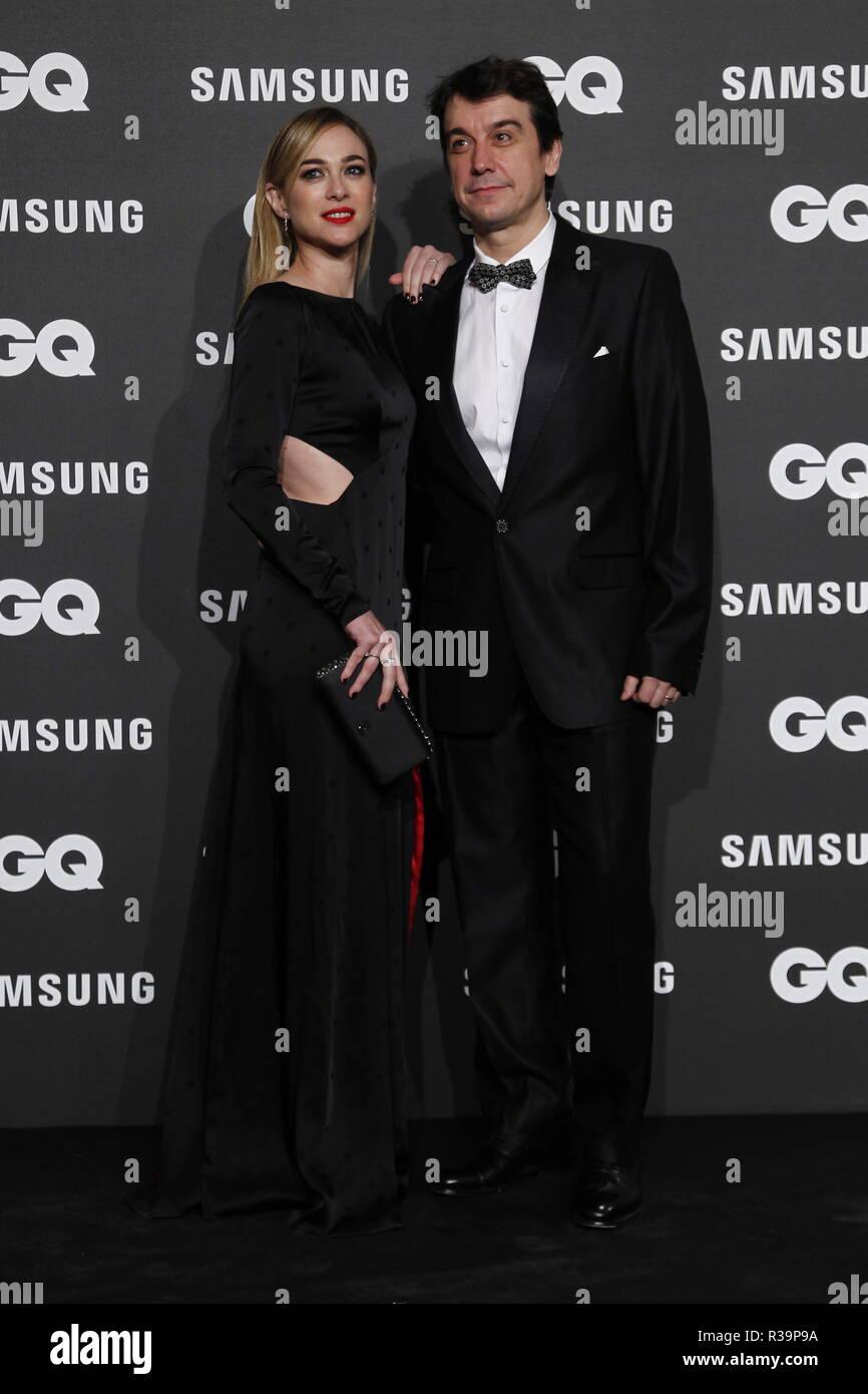 Photocall de los premios GQ Hombres del A–o 2018. (Photo: Jose Cuesta/261/Cordon Press). Marta HAzas y su marido Javier Veiga   Photocall of GQ Men of Year Award 2018 in Madrid on Thursday , 22 november 2018 - Stock Image