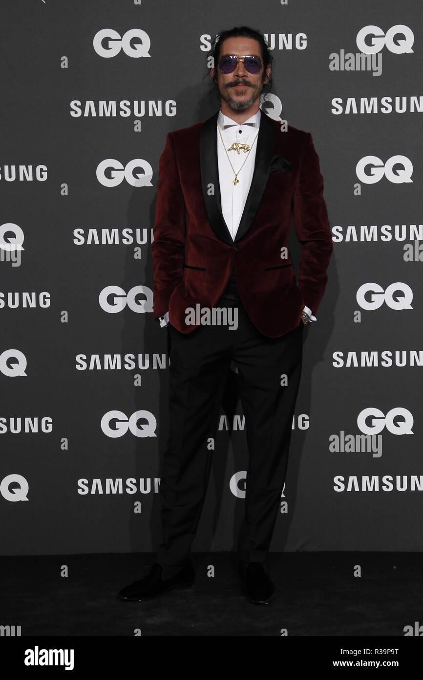 Photocall de los premios GQ Hombres del A–o 2018. (Photo: Jose Cuesta/261/Cordon Press). Oscar Jaenada   Photocall of GQ Men of Year Award 2018 in Madrid on Thursday , 22 november 2018 - Stock Image