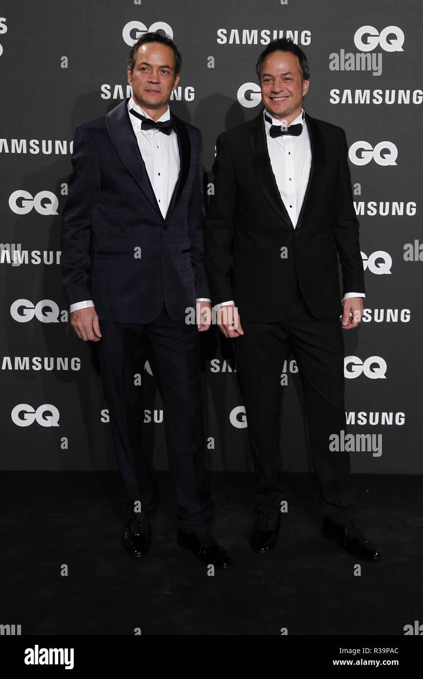 Photocall de los premios GQ Hombres del A–o 2018. (Photo: Jose Cuesta/261/Cordon Press).   Photocall of GQ Men of Year Award 2018 in Madrid on Thursday , 22 november 2018 - Stock Image