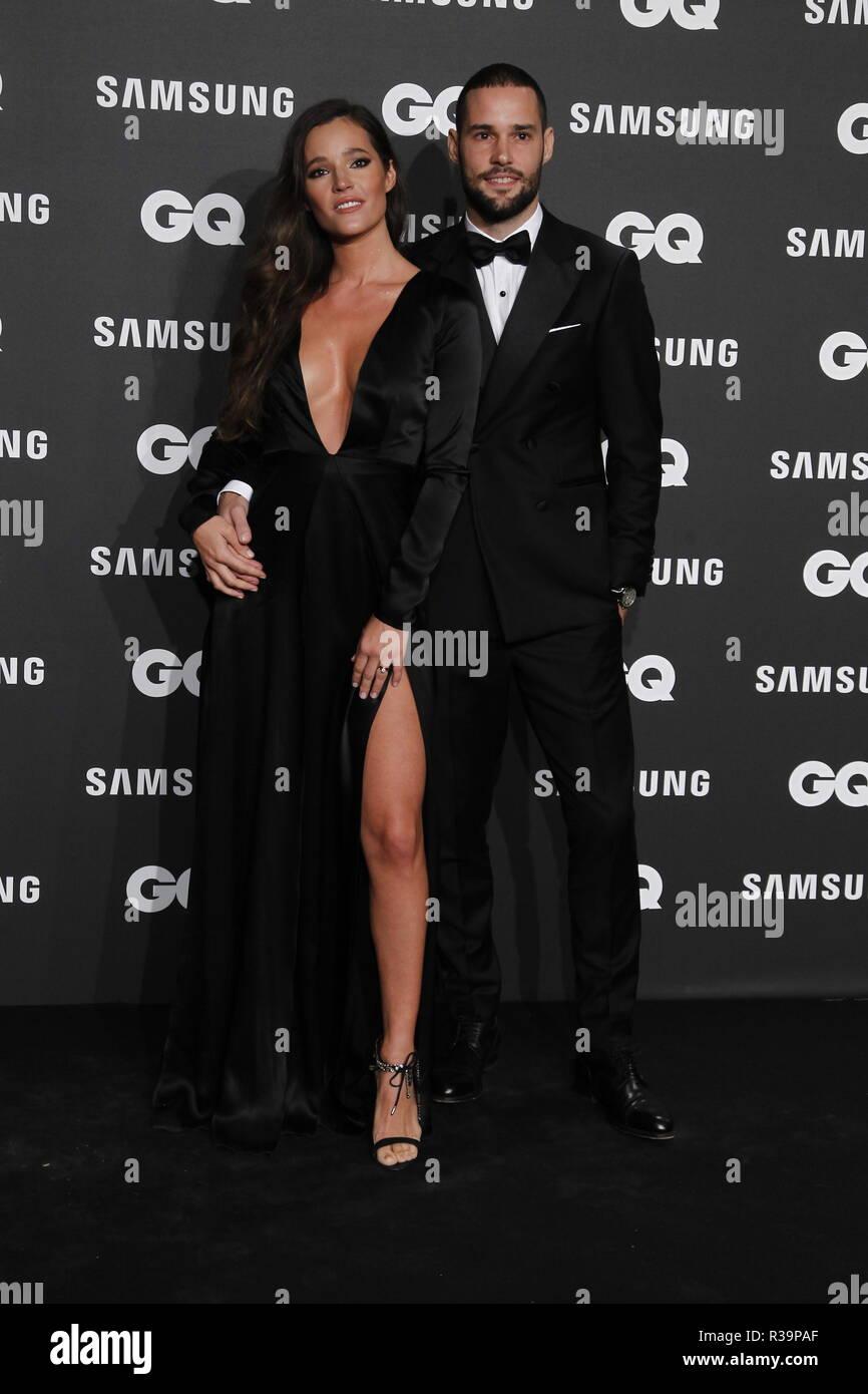 Photocall de los premios GQ Hombres del A–o 2018. (Photo: Jose Cuesta/261/Cordon Press). Malena Costa y Mario Suarez   Photocall of GQ Men of Year Award 2018 in Madrid on Thursday , 22 november 2018 - Stock Image