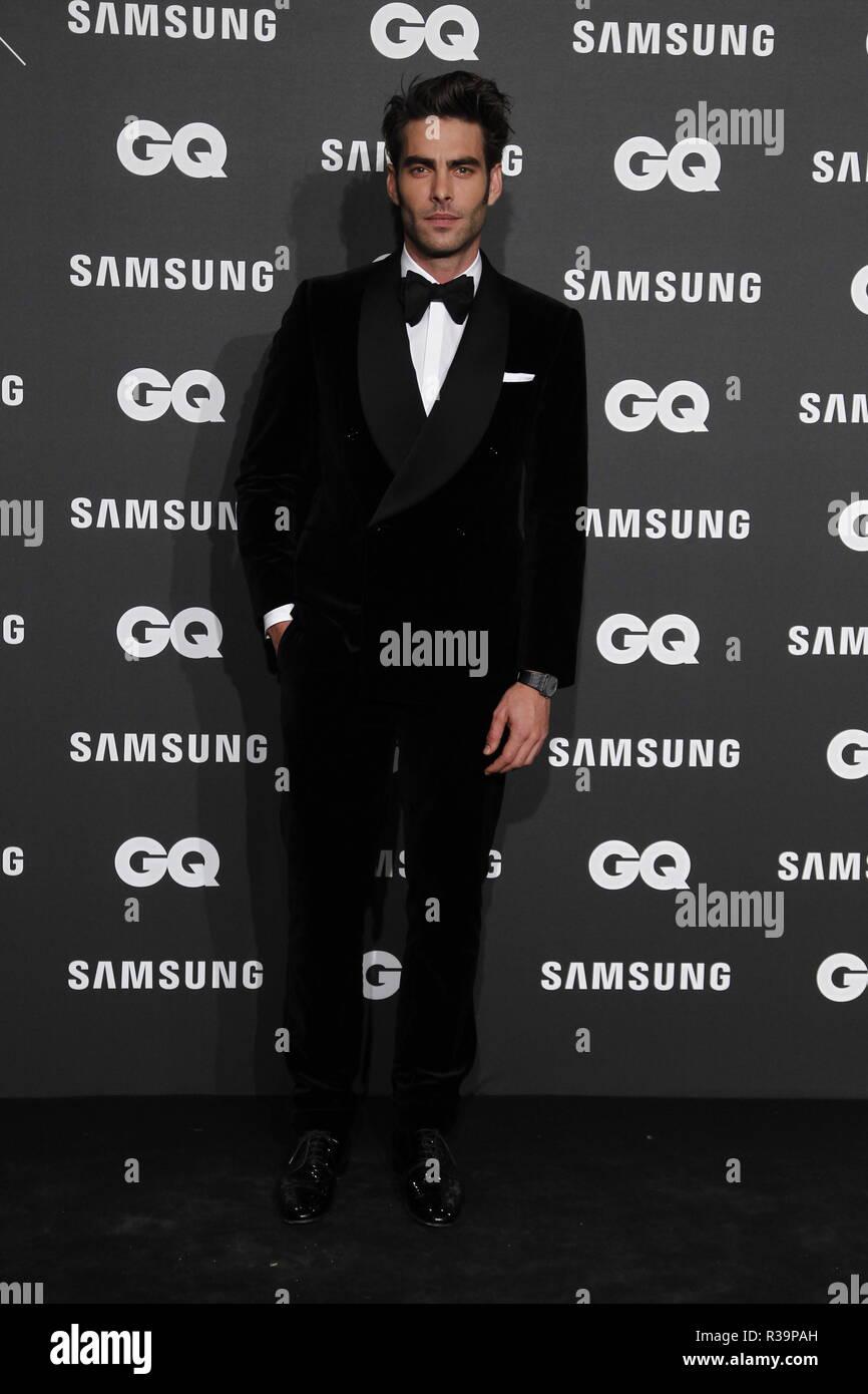 Photocall de los premios GQ Hombres del A–o 2018. (Photo: Jose Cuesta/261/Cordon Press). Jon Kortajarena   Photocall of GQ Men of Year Award 2018 in Madrid on Thursday , 22 november 2018 - Stock Image