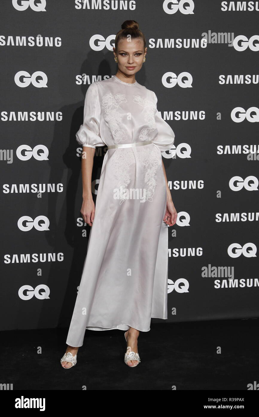 Photocall de los premios GQ Hombres del A–o 2018. (Photo: Jose Cuesta/261/Cordon Press). Magdalena Frackowiak   Photocall of GQ Men of Year Award 2018 in Madrid on Thursday , 22 november 2018 - Stock Image