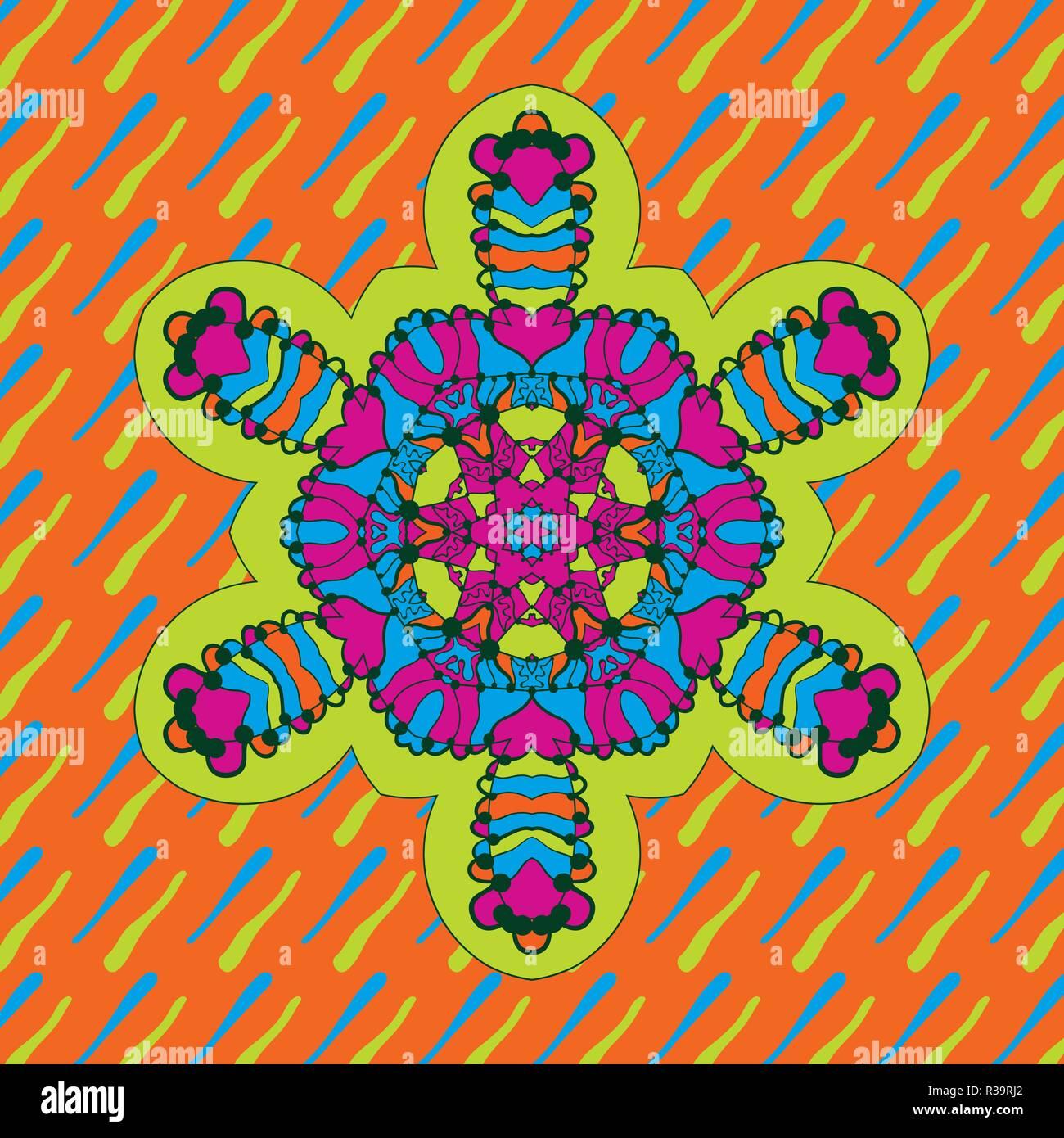 Icon Childish geometric symmetri design of neon bright color - Stock Vector