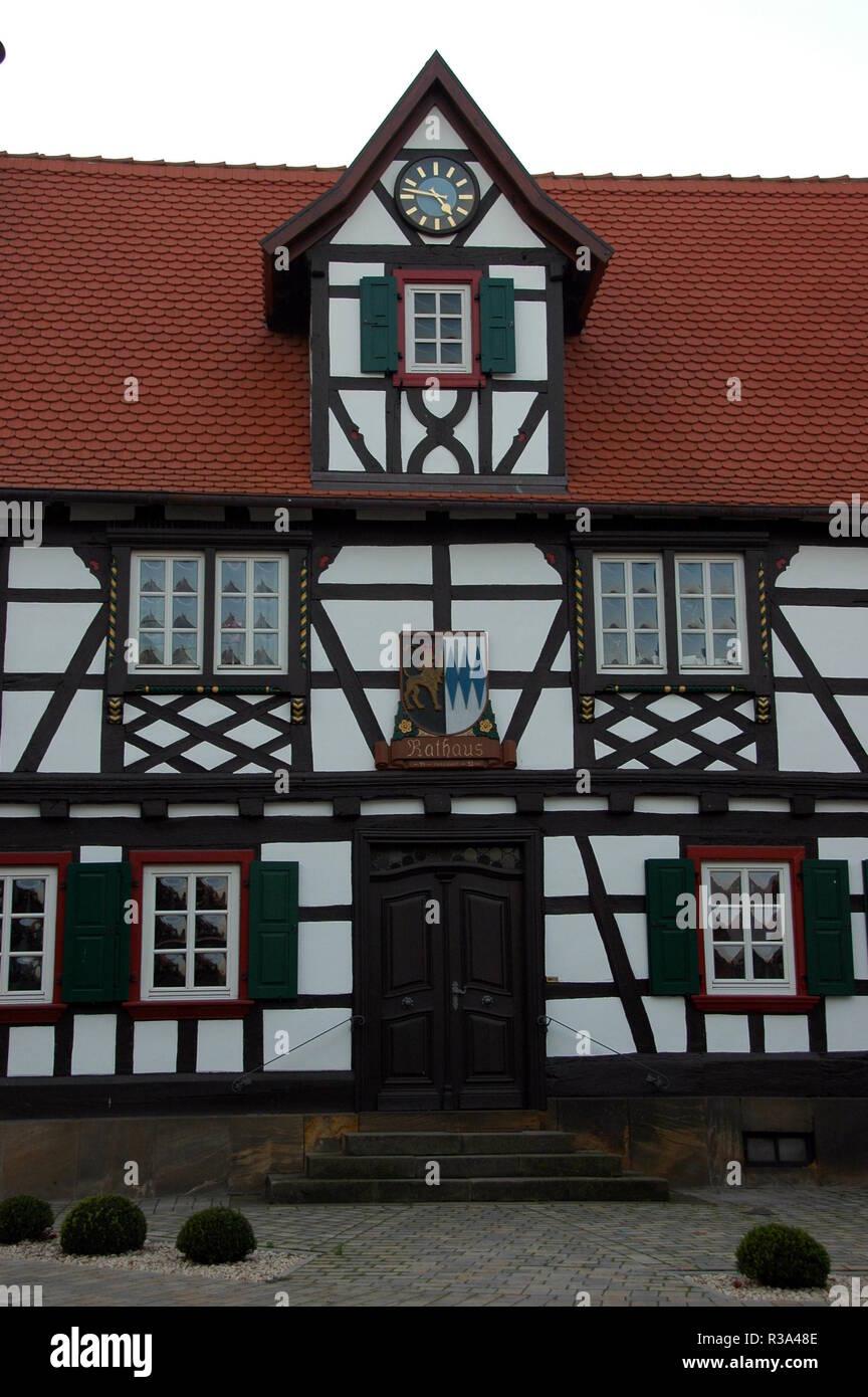 town hall in winden / pfalz Stock Photo