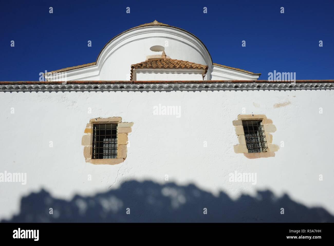 facades in lloret de mar - costa brava - spain - Stock Image