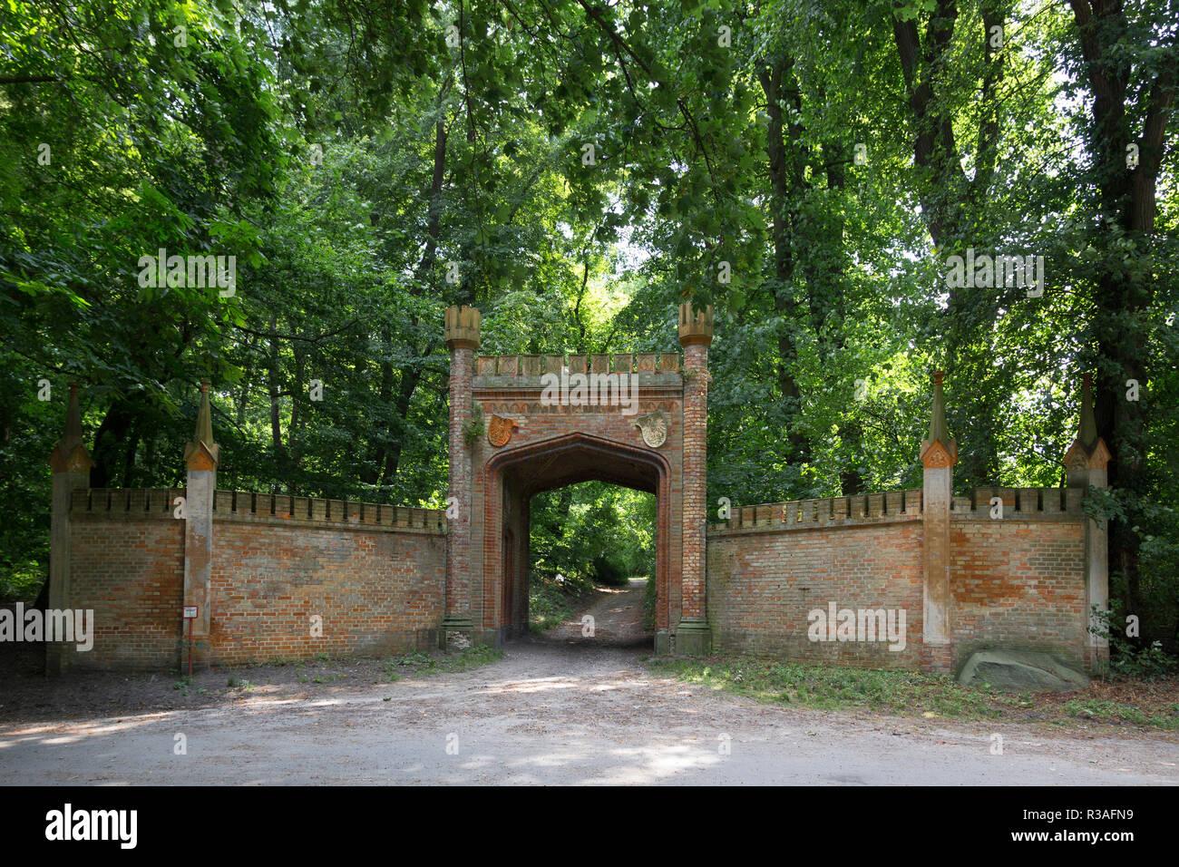 park gate Stock Photo