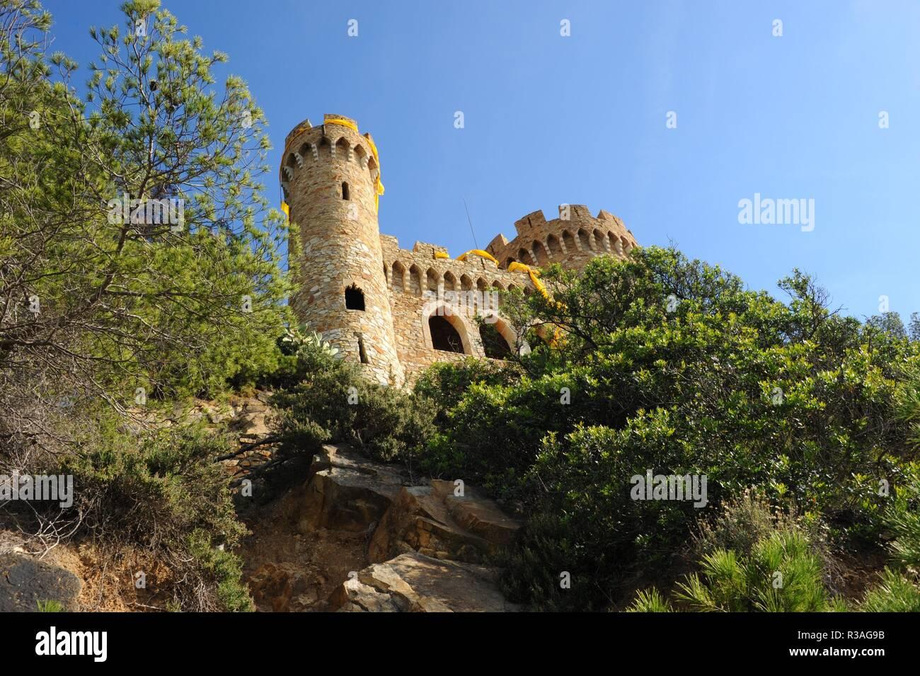 walls,lloret de mar,costa brava,spain,mediterranean - Stock Image