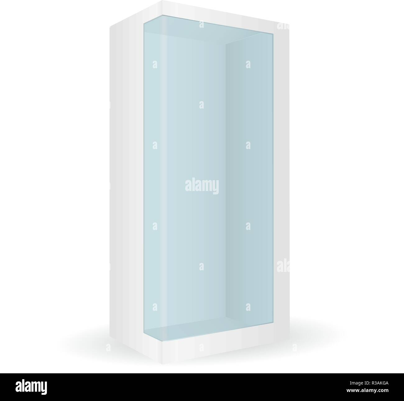 White box with transparent side - Stock Image