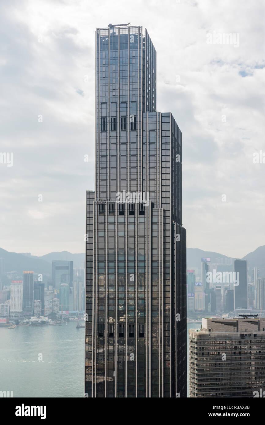 Victoria Dockside skyscraper, Tsim Sha Tsui, Kowloon, Hong Kong - Stock Image