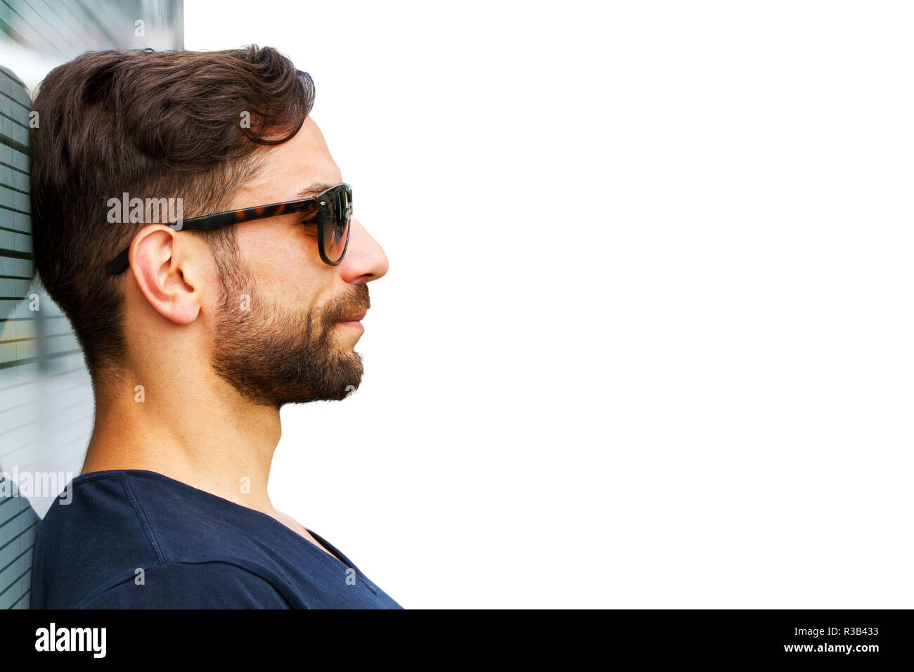 young man with sunglasses Stock Photo