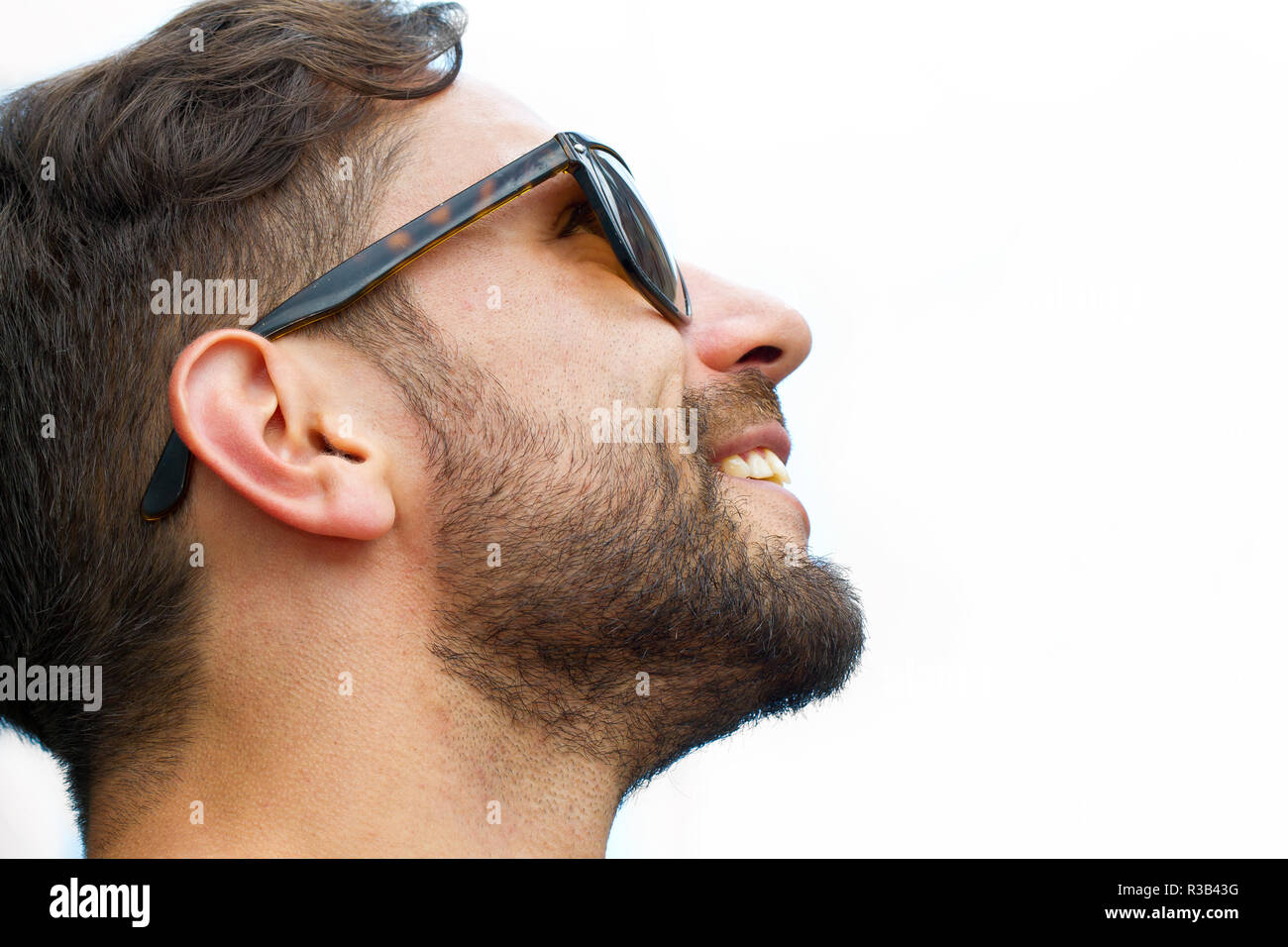 young man with visions Stock Photo