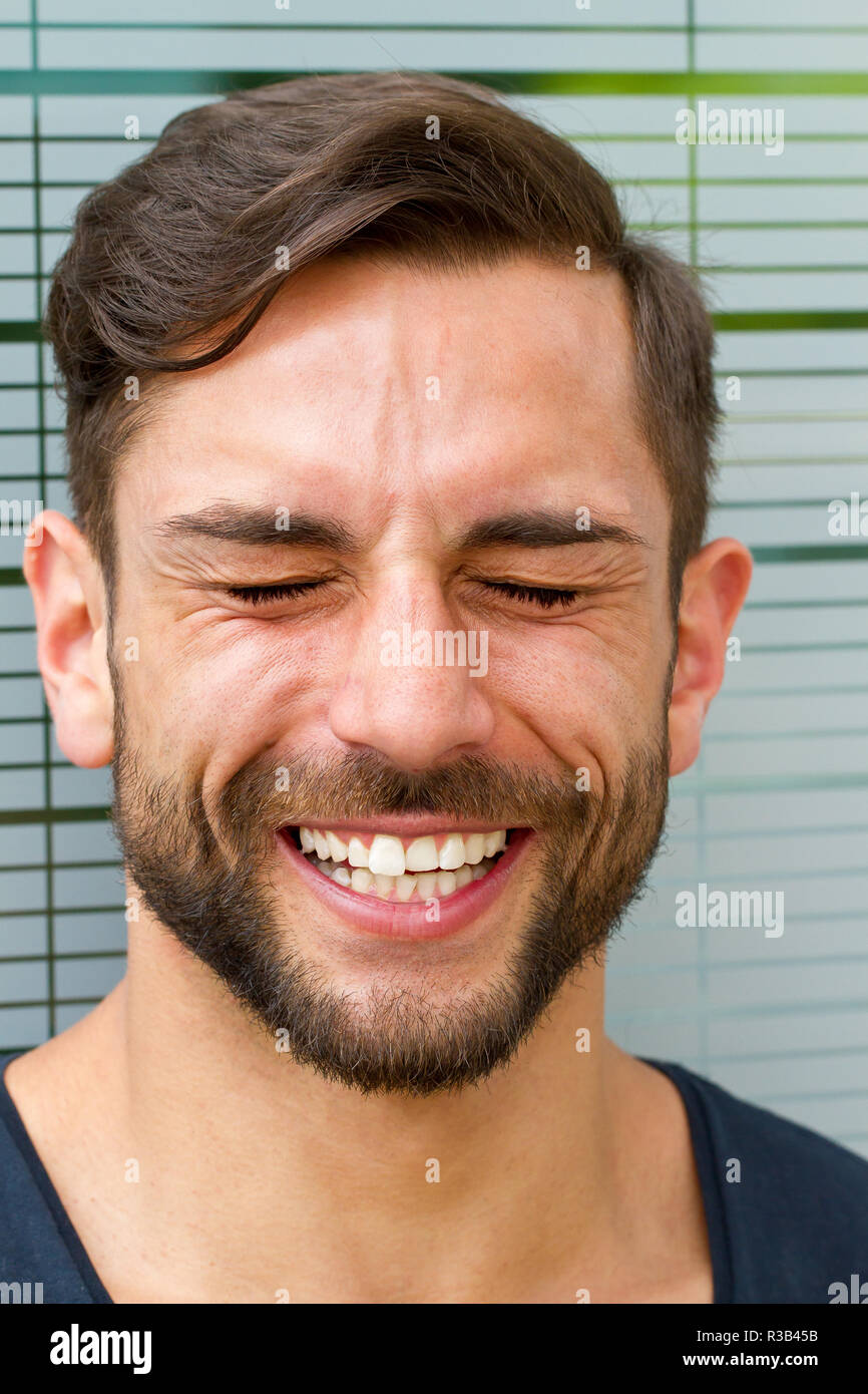 young man in laughter Stock Photo