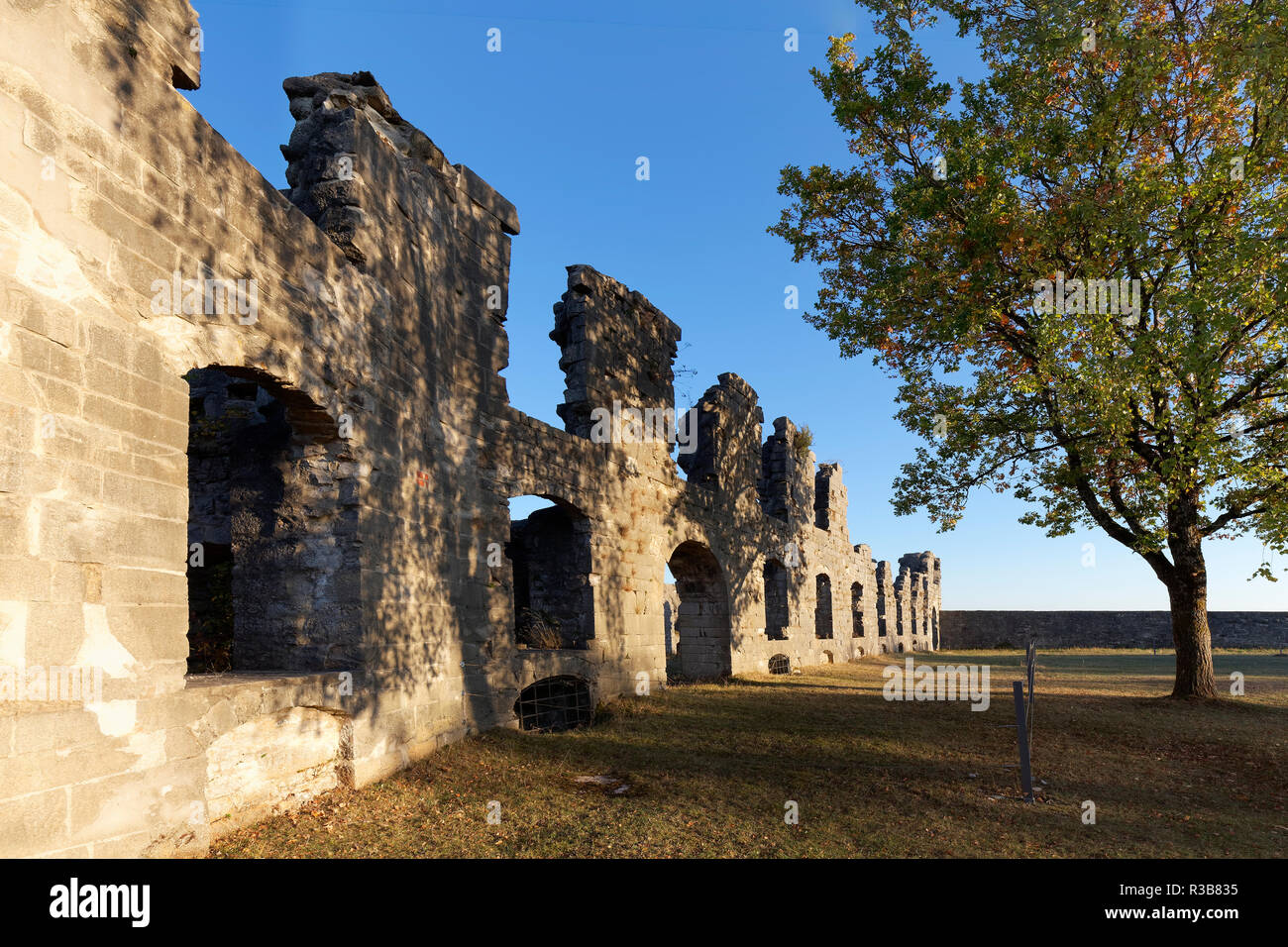 Armoury ruin, east wing of the former castle fortress Rothenberg near Schnaittach, Franconian Alb, Hersbrucker Alb - Stock Image