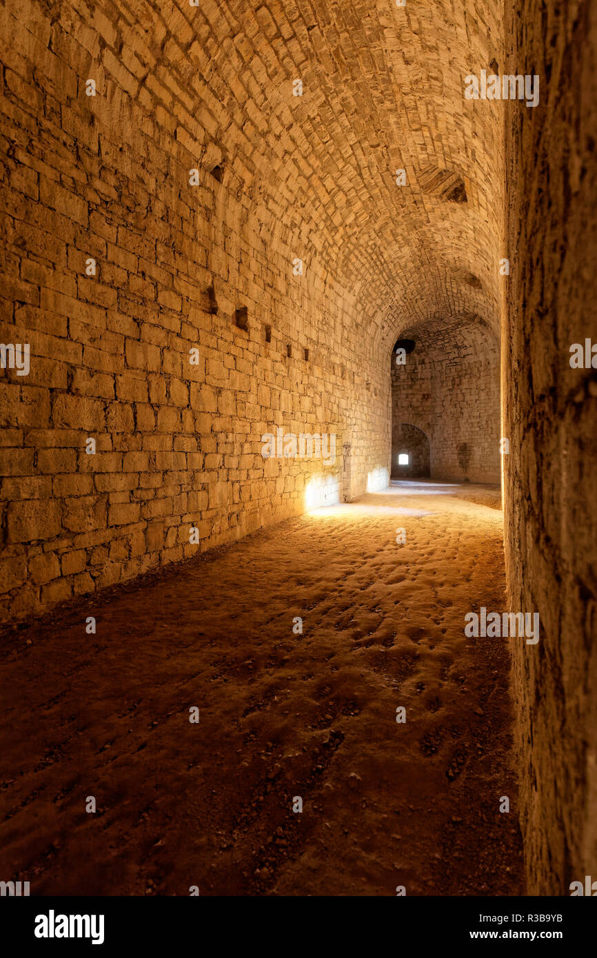 Casemates of the former castle fortress Rothenberg, near Schnaittach, Franconian Alb, Hersbrucker Alb, Middle Franconia - Stock Image