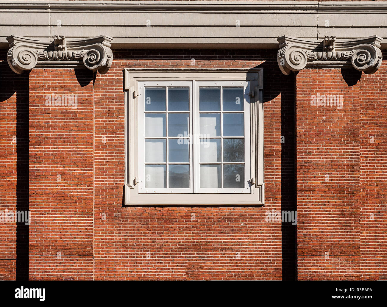 Traditional dutch window at the Amsterdams Historisch Museum - Stock Image