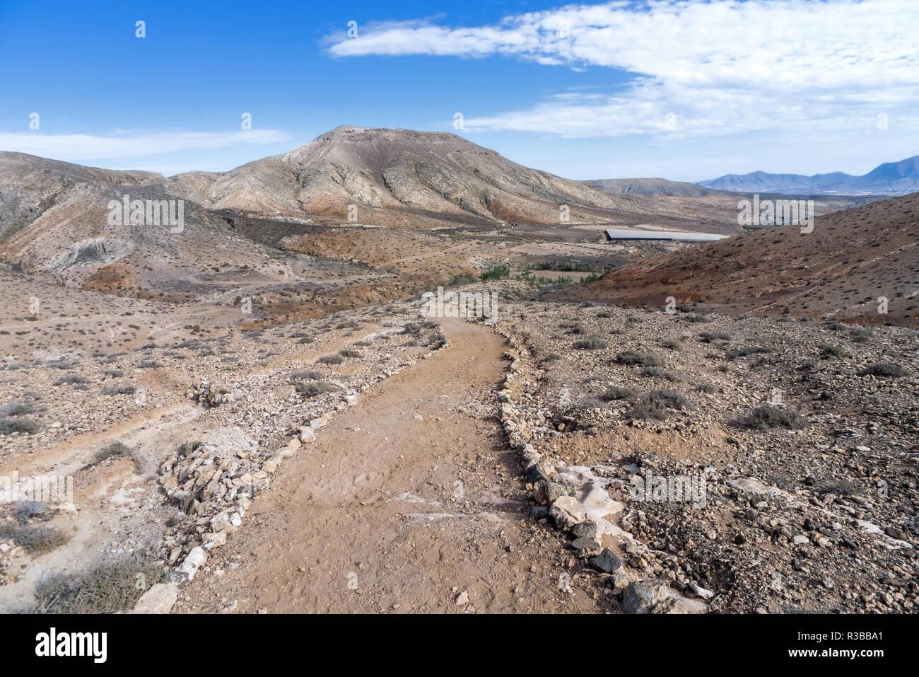 fuerteventura - pilgrimage in cardon massif Stock Photo