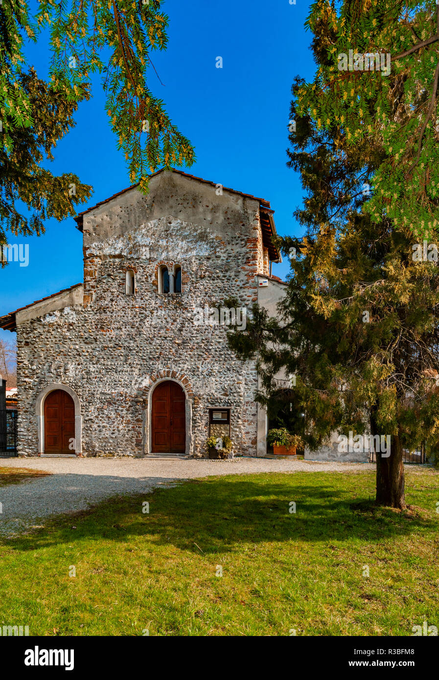 Italia-Piemonte-Valsesia Serravalle Sesia Pieve Santa Maria di Naula - Stock Image