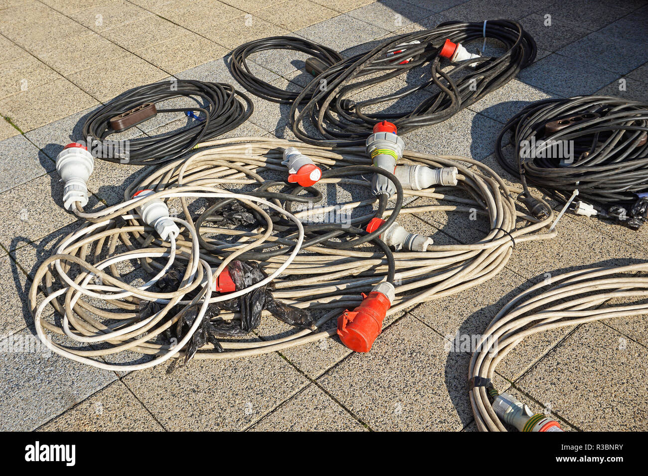 Prime Electric Cables And Connectors Outdoor Stock Photo 225837359 Alamy Wiring Digital Resources Counpmognl