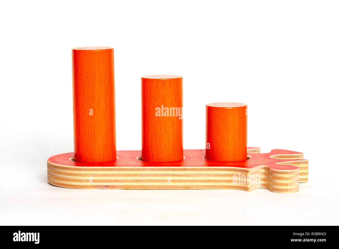 Orange puzzle. Career growth, personality development Child Game - Stock Image