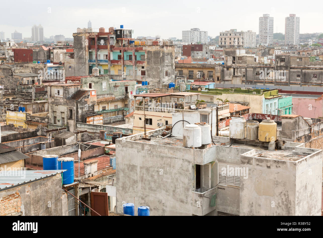 Cuba, Havana. Overview of buildings and rooftops. Credit as: Wendy Kaveney / Jaynes Gallery / DanitaDelimont.com Stock Photo