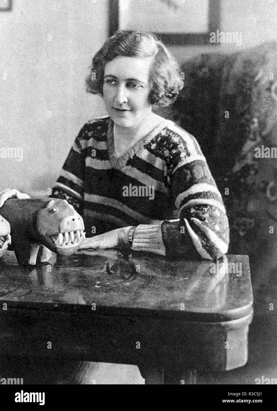 AGATHA CHRISTIE (1890-1976) English author about 1930 - Stock Image