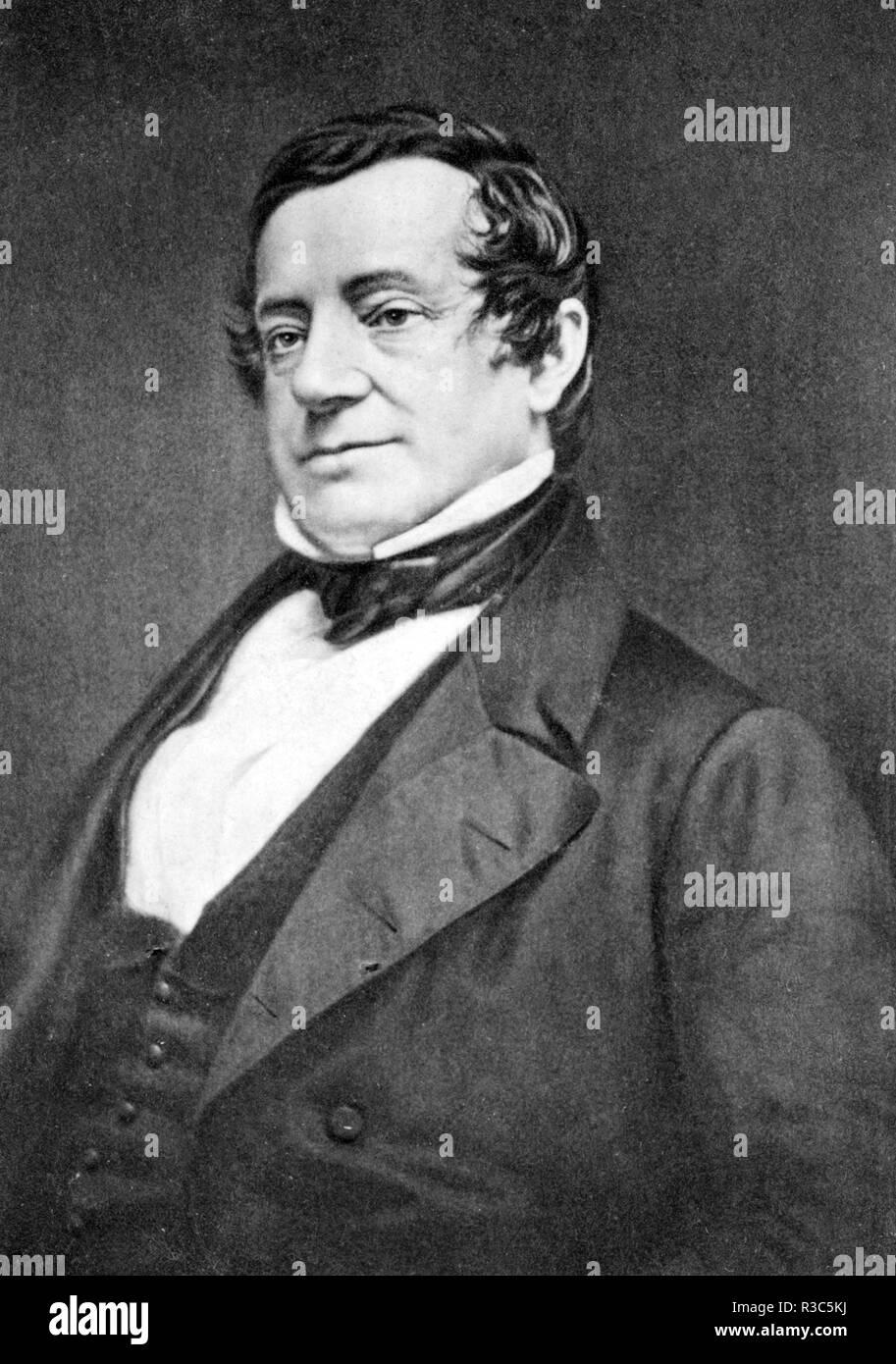 WASHINGTON IRVING (1783-1859) American writer and diplomat - Stock Image