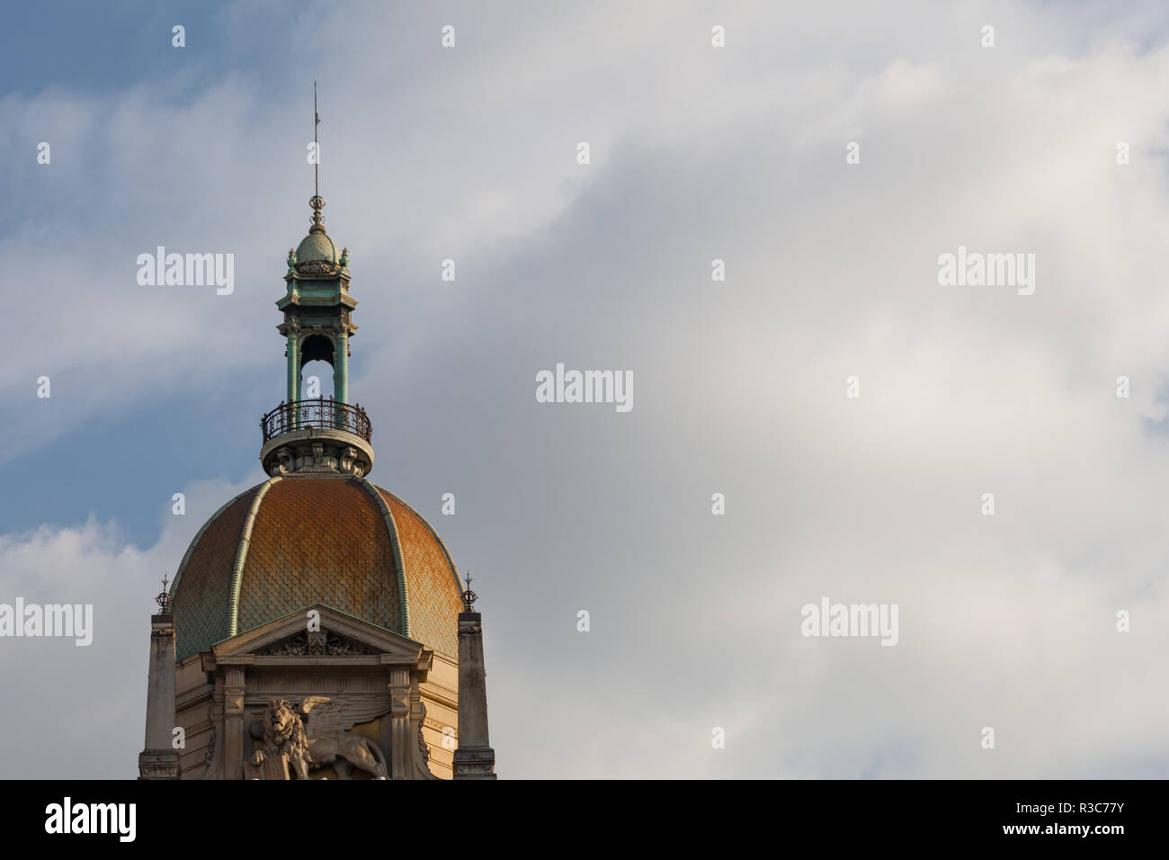 Milan, Italy - November, 2018: Palazzo delle Assicurazioni Generali - body copy Stock Photo