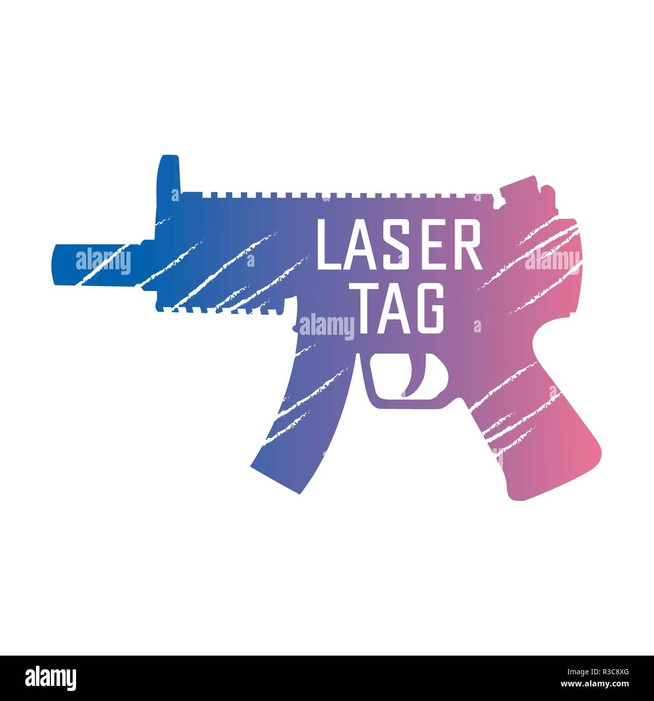 vector logo for laser tag and airsoft - Stock Vector