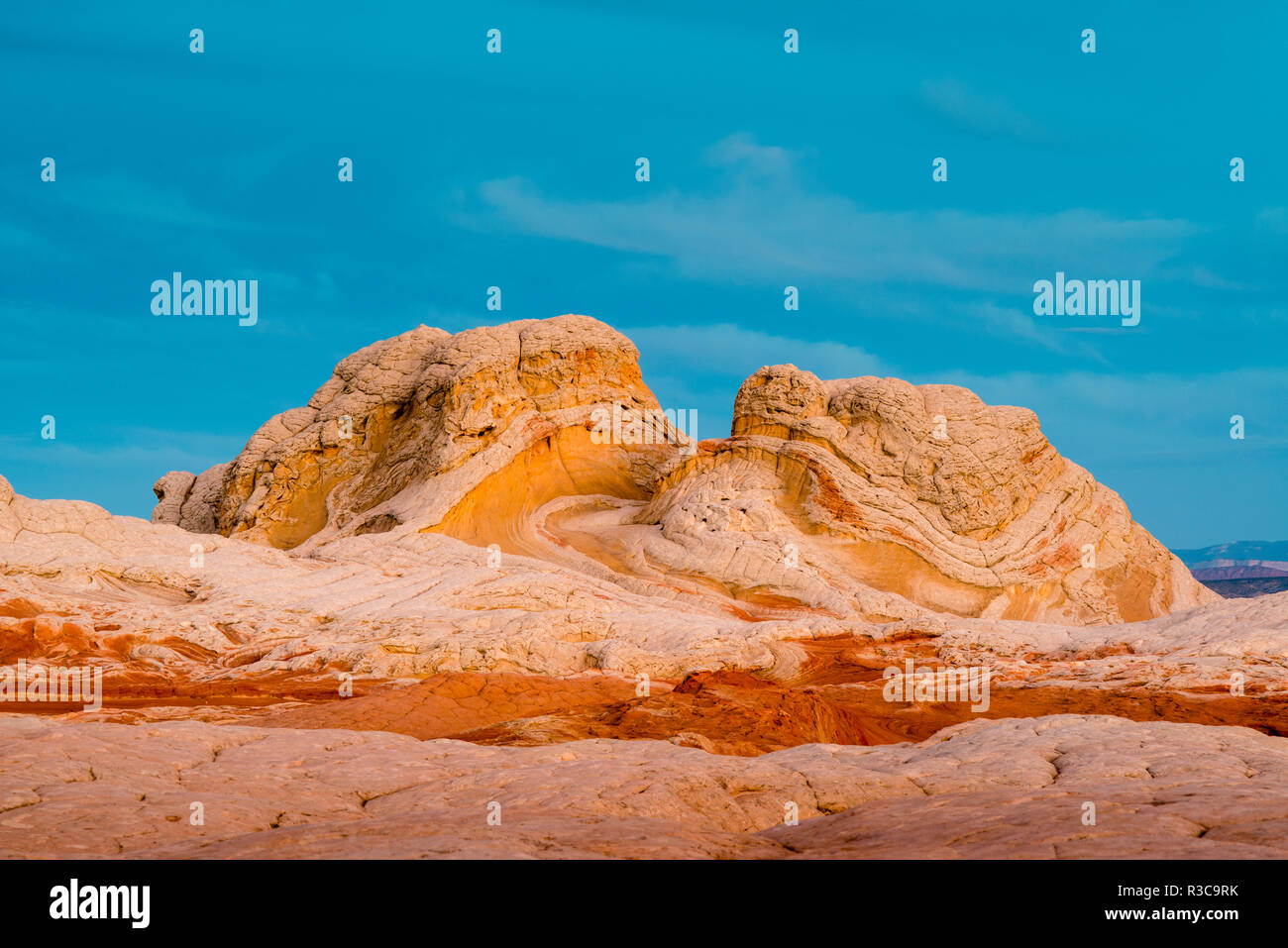 Sunrise at Vermillion Cliffs, White Pockets Wilderness, Bureau of Land Management, Arizona - Stock Image