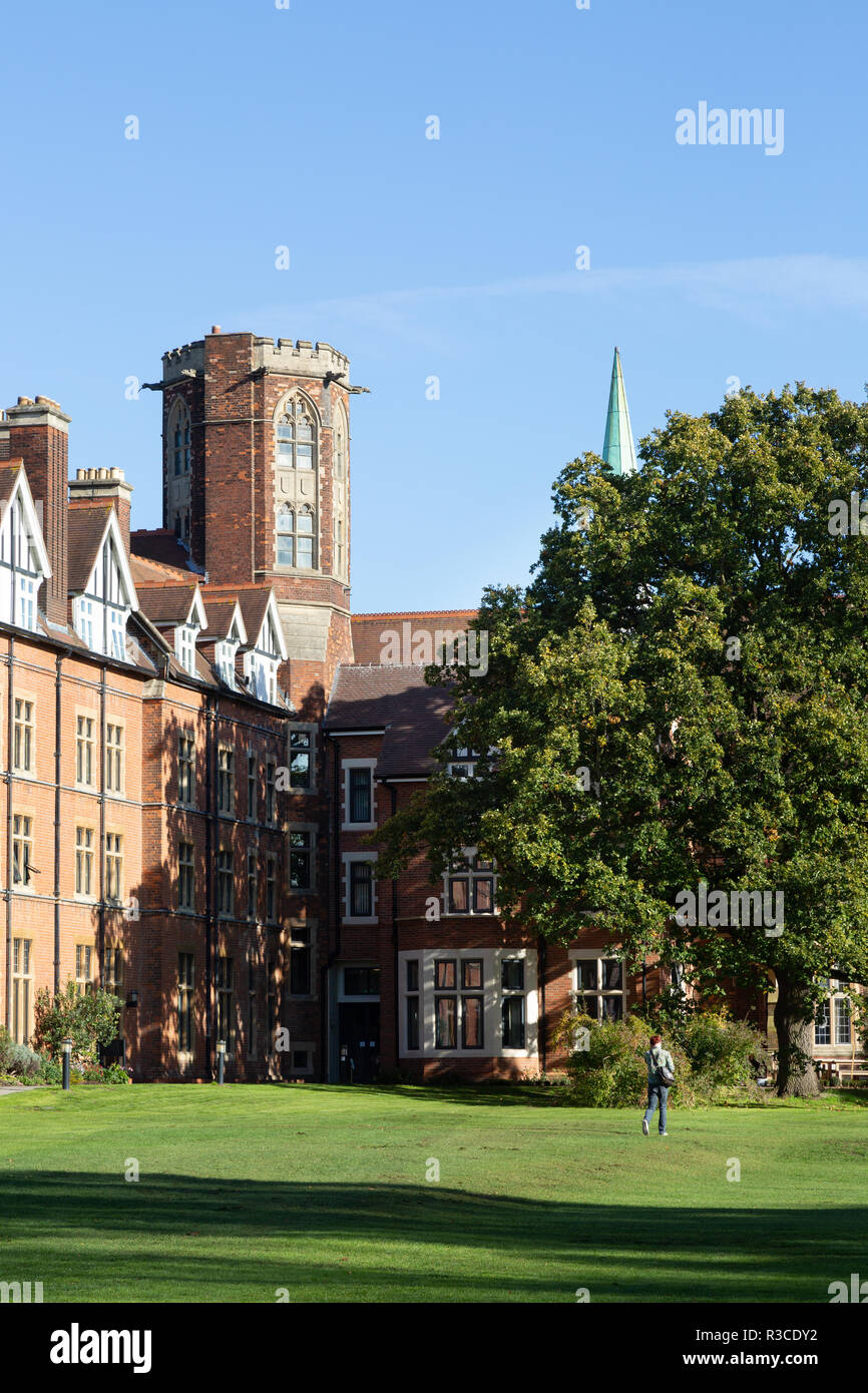 Homerton College, Cambridge University UK - exterior view of the older buildings - Stock Image