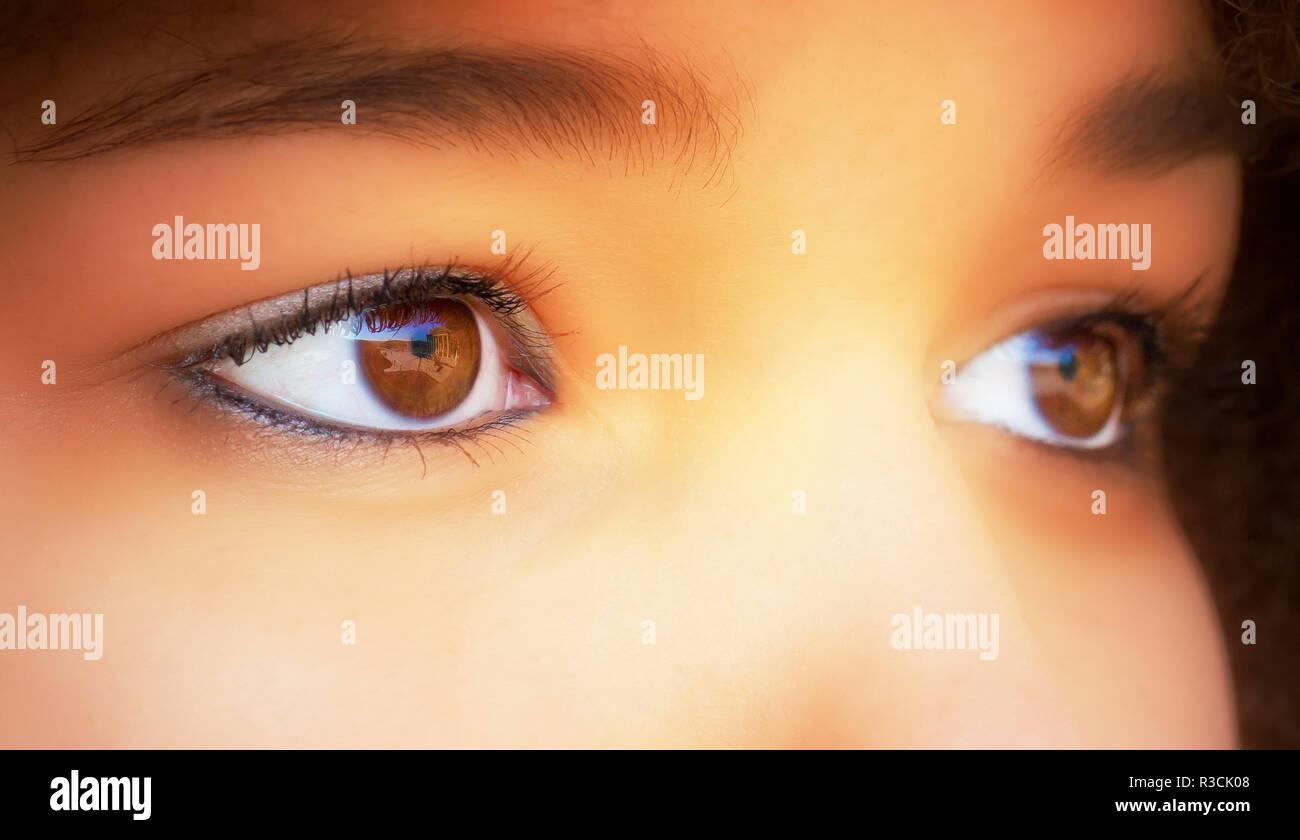 sensitive eyes Stock Photo