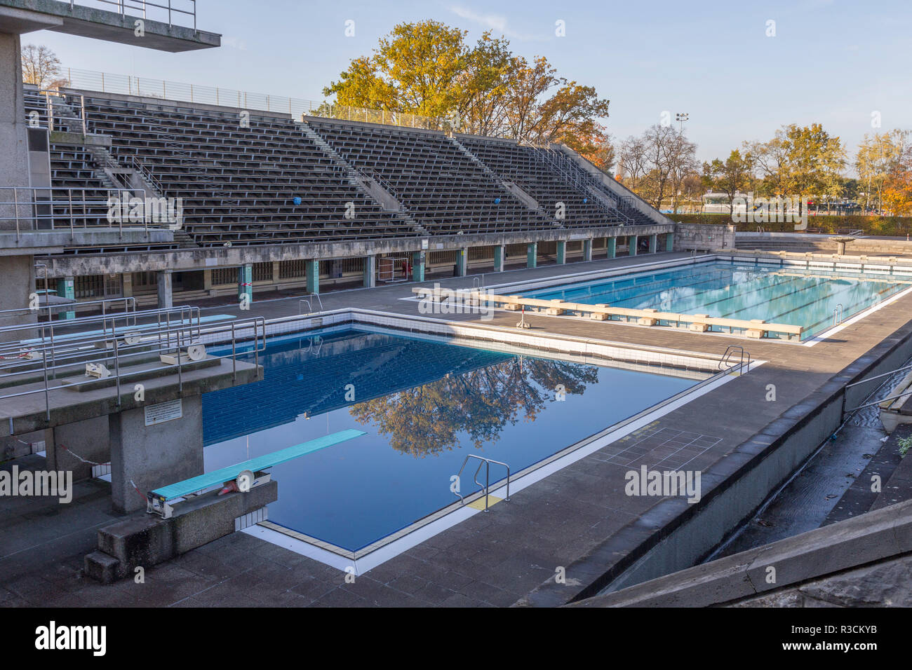 two swimming pools - Stock Image