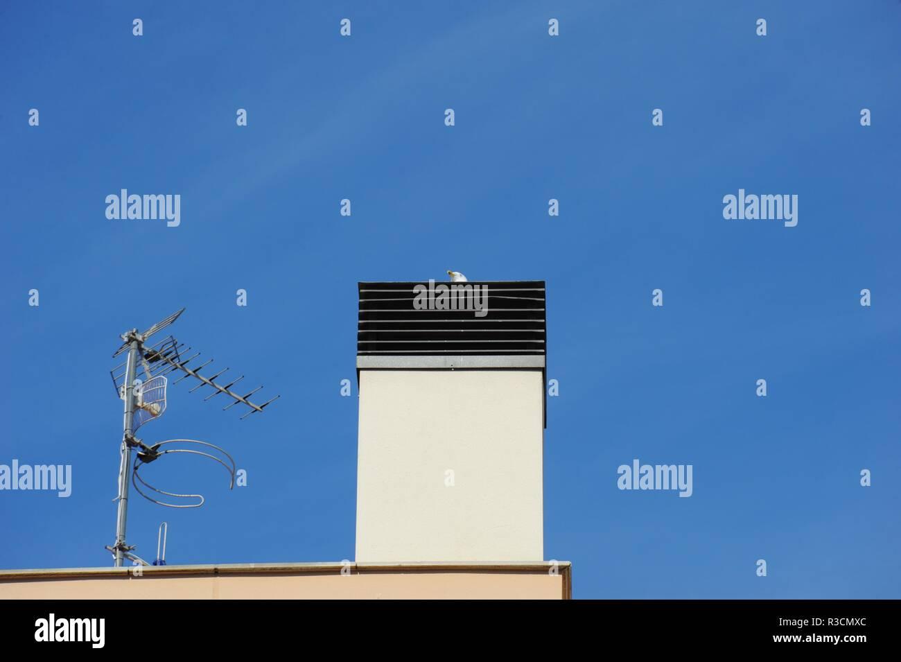 house facades in lloret de mar - costa brava - spain - Stock Image
