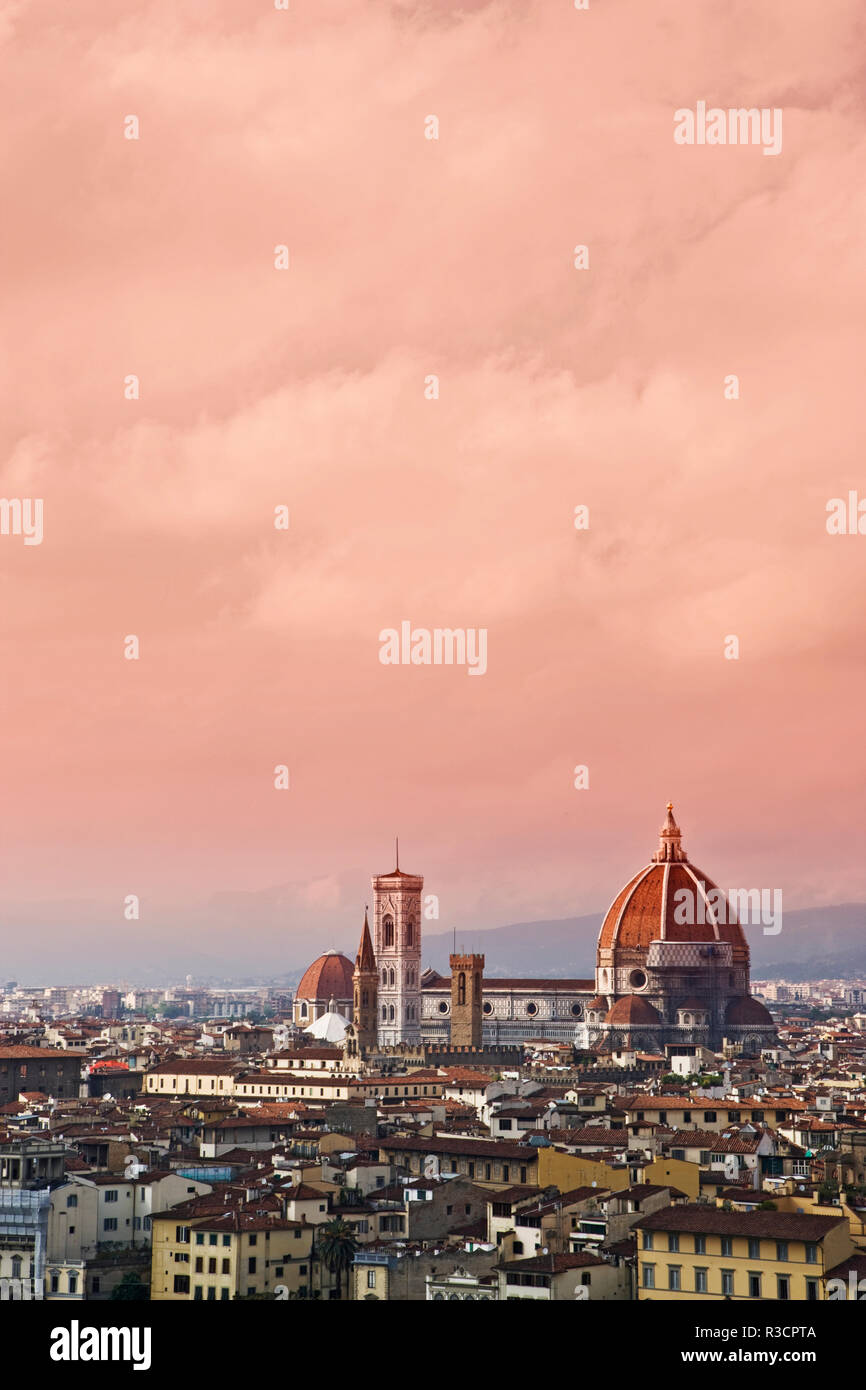 Italy, Florence. Overview of city. Credit as: Dennis Flaherty / Jaynes Gallery / DanitaDelimont.com - Stock Image