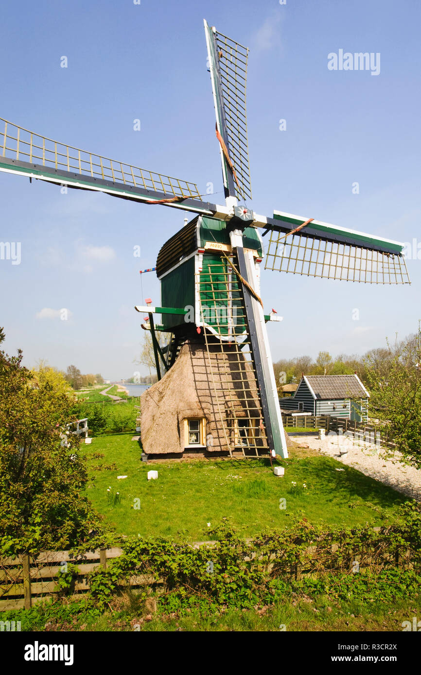 Netherlands. Close-up of windmill. Credit as: Dennis Flaherty / Jaynes Gallery / DanitaDelimont.com - Stock Image