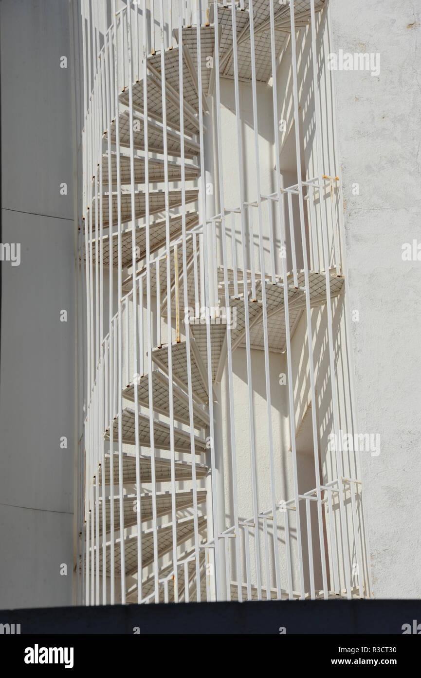 house facades,lloret de mar,costa brava,spain - Stock Image