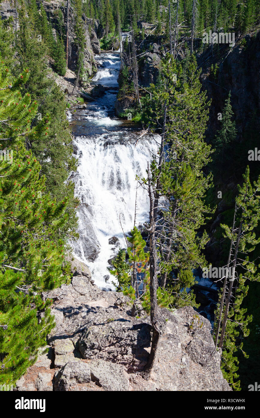 Kepler Cascades Is A Waterfall On The Firehole River In