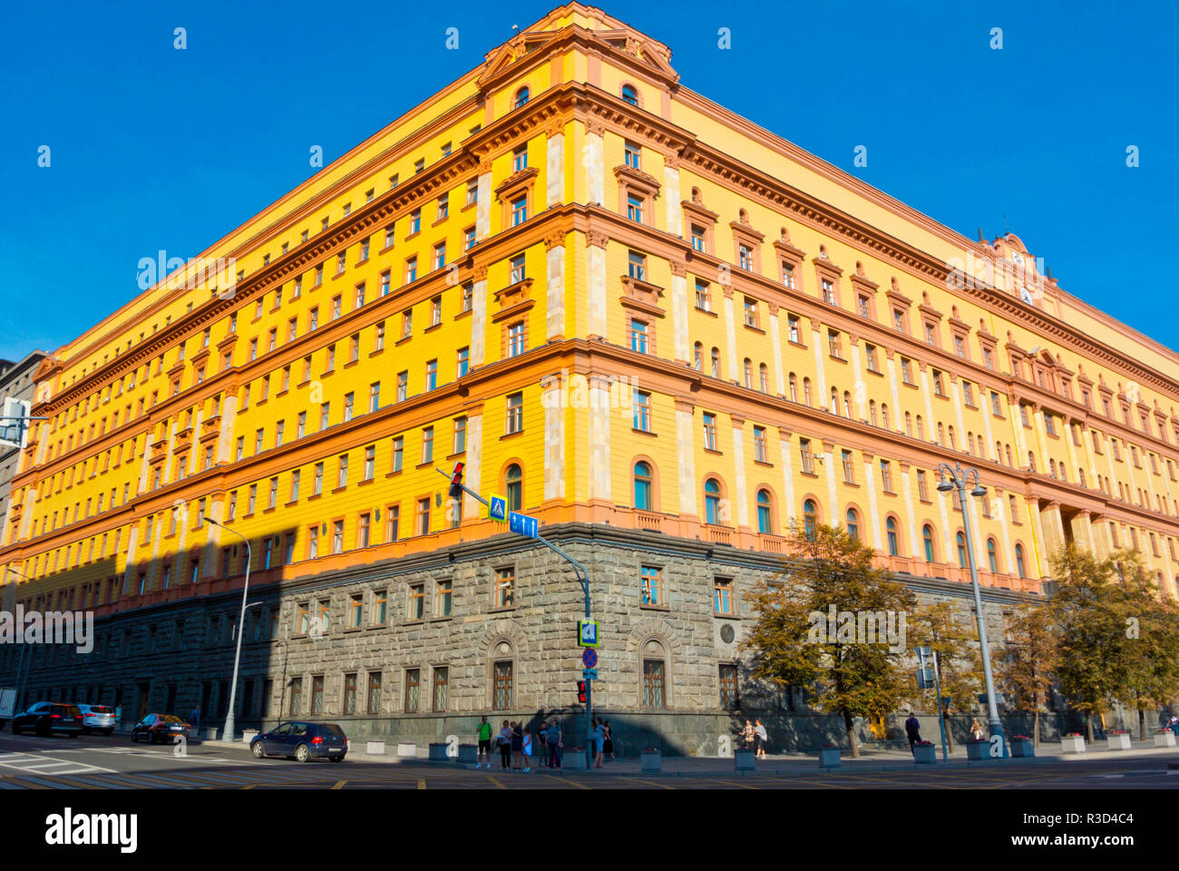Lubyanka, headquarter of FSB, Russian security services, Meschansky district, central Moscow, Russia Stock Photo