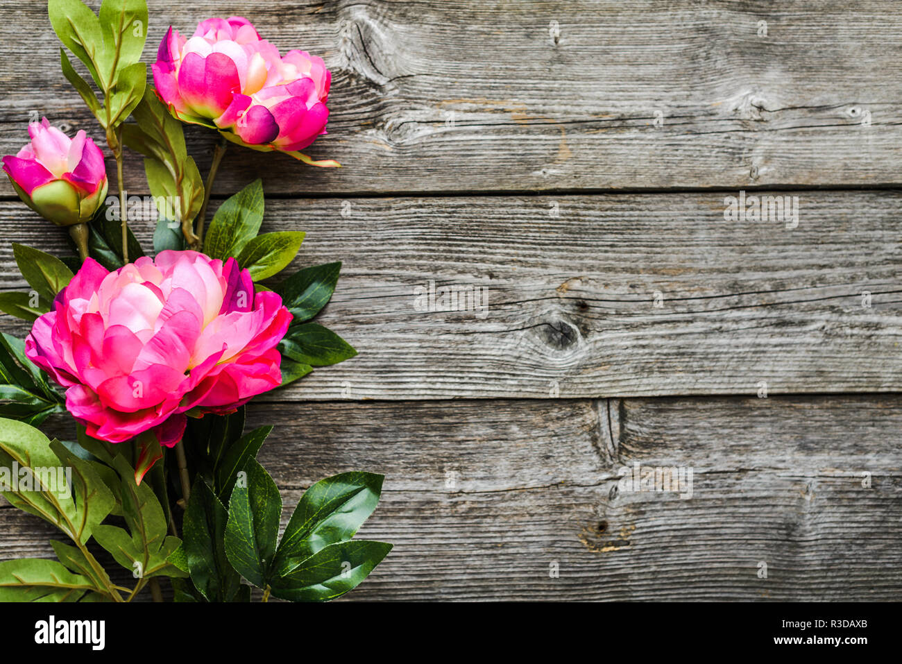 Summer flowers bouquet, background for mothers day or for womens day 8 march - Stock Image