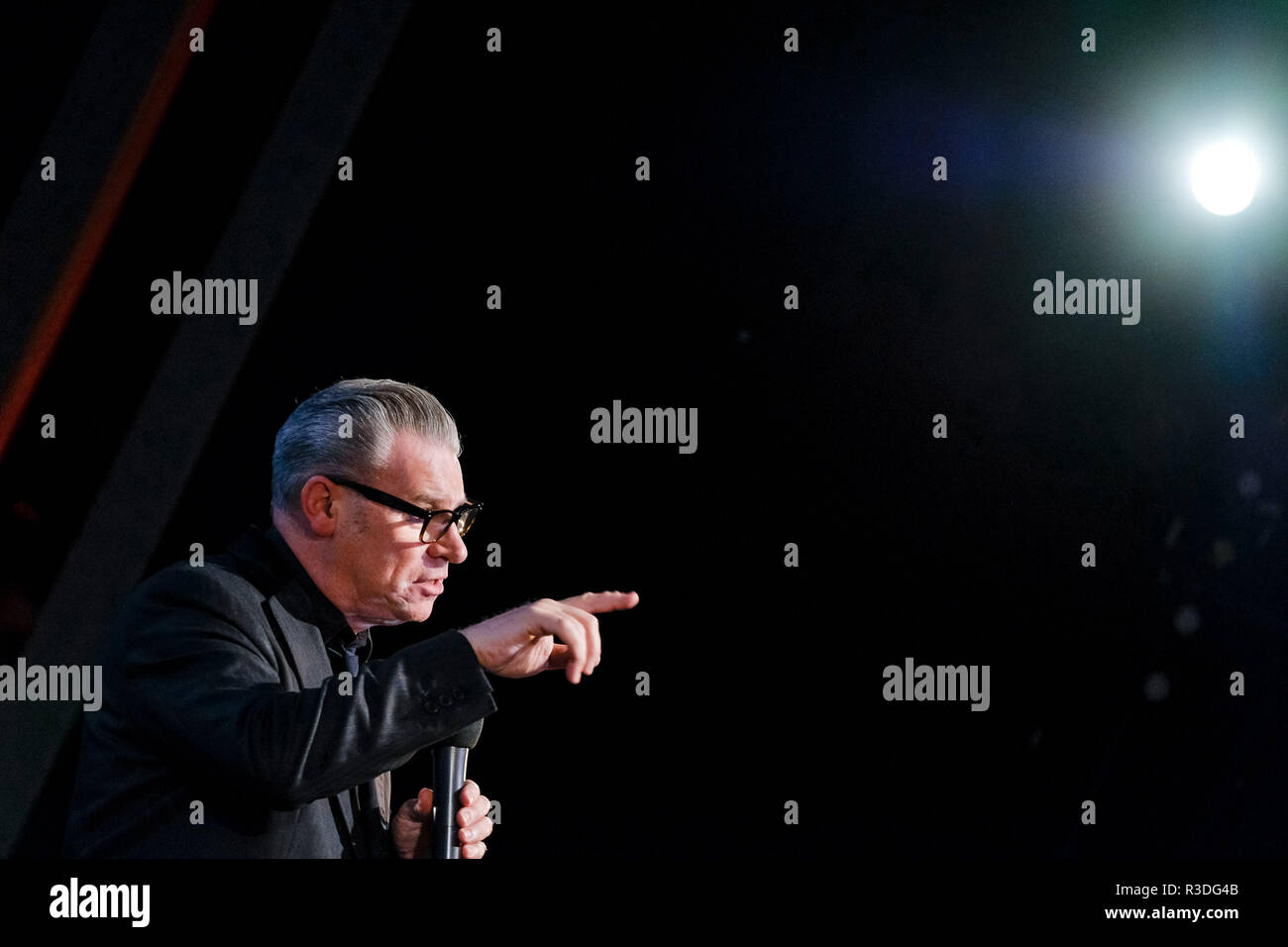 Mark Kermode appears on Mark Kermode Live in 3D on Monday 19 November 2018 held at BFI Southbank, London. Pictured: Mark Kermode. - Stock Image