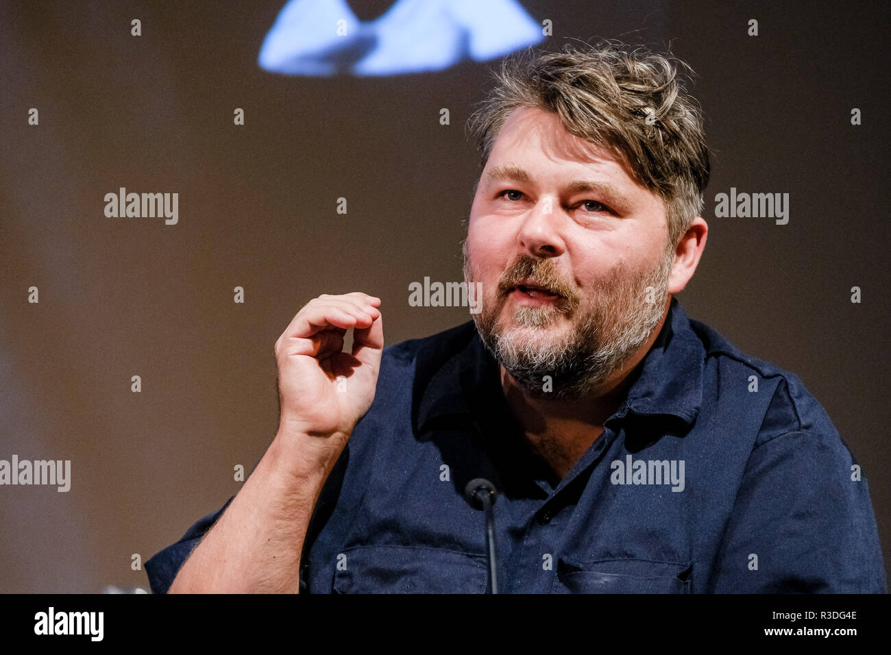 Filmmaker Ben Wheatley appears on Mark Kermode Live in 3D on Monday 19 November 2018 held at BFI Southbank, London. Pictured: Ben Wheatley. - Stock Image