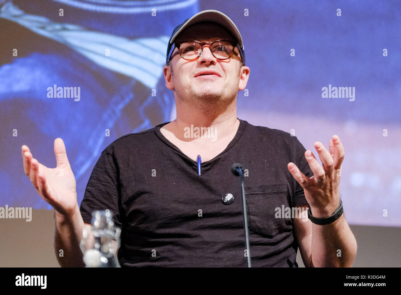 Filmmaker Lenny Abrahamson appears on Mark Kermode Live in 3D on Monday 19 November 2018 held at BFI Southbank, London. Pictured: Lenny Abrahamson. - Stock Image