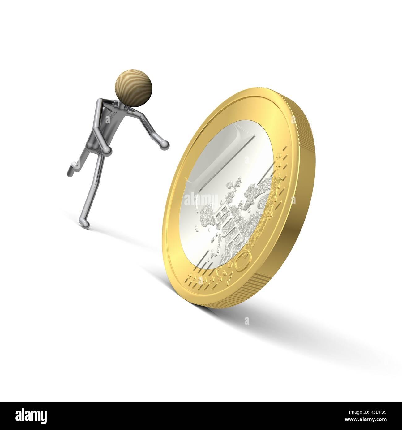 behind the money running here 2 - Stock Image
